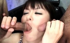 Japanese sucking dicks and getting cumshot
