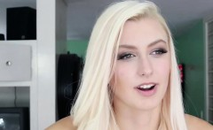 Gorgeous Blonde Alexa is filled with cum