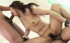 asian with hairy cunt sucking two cocks