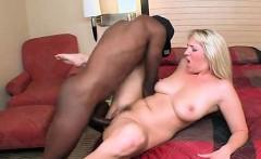 Slutty MILF enjoying black dick nailing her
