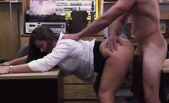 MILF amateur fucking big cock for pawn cash in office