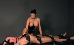 Busty mistress fucks strapped guy fetish femdom
