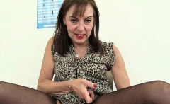 British granny Amanda Degas has hot solo sex