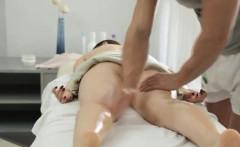 Big titty Russian woman gets a sensual massage