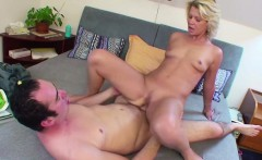 Step-Mother caught German Step-Son and helps with Fuck