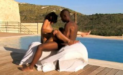 exotic ebony couple fuck outdoors