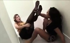 Sucking On This Chicks Nylon Covered Feet