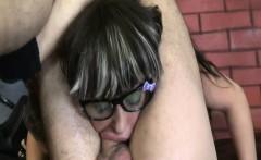 Deepthroat face fucking of hot latina