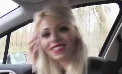 Blonde hitchhiker Chloe gets hammmered