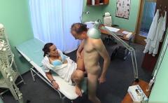 Hot secretary sucking huge cock