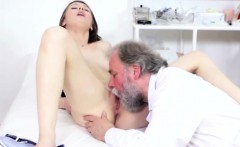 Young girl and mature doctor
