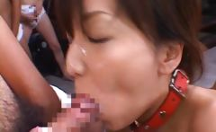 Cute babe Shiho takes part in gangbang