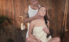 classy massage babe with hot ass fingered