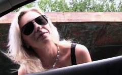 Horny hitchhiker Alena gets hammered