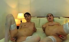 Lesbian Webcam Teens Share A Dildo