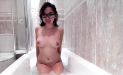 Perfect cute asian shaves in the bath