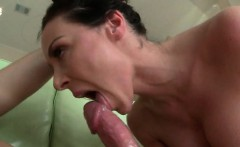 Brunette anal hoe sucking dick for cum