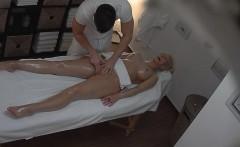 Blonde Tattoed Girl Fucked During Massage