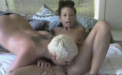 Hot amateurs use a strapon to fuck
