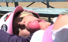 Hot Softball Player Kati Gets Fucked Wild in the Open