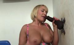 Milf sucks big black cock