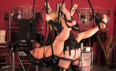 English mistress dominates with pegging