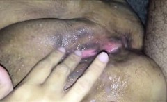 Ejaculating on a chubby MILF's vagina