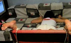 my slave Norah gets painful feet punishment