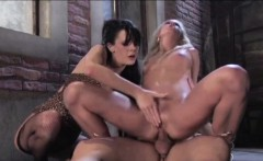 2 Hot German Street Whore get fucked outside for Money