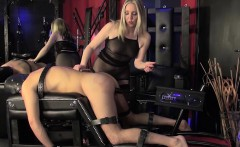 Mistress dominating pathetic sub with whip