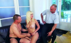 daughter get fuck by step dad and boyfriend in threesome