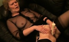 Waiting on MILF-MEET.COM - Masturbating mature in stockings