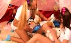 naughty teens in diapers play kinky to turn on each other