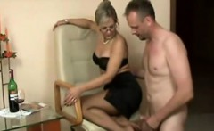 sexy german milf give footjob