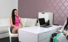 Female agent recorded lesbian casting