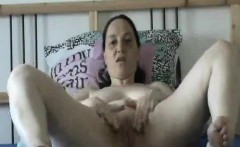 horny amateur mother with a toy