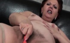 Mature BBW masturbating pussy with beads