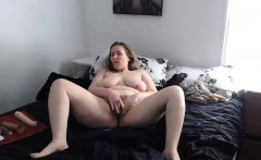 Hot BBW housewife Stephanie masturbates pussy