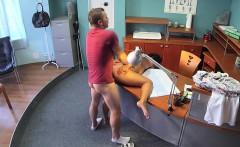 doctor fucks patient on a desk