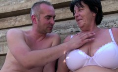 Grandma Seduce to Fuck outdoor by Young Stranger Boy