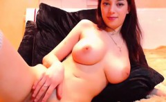 huge nice tits rubs pussy on webcam   cams69.net
