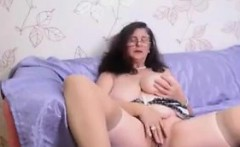 Busty Granny Fooling Around