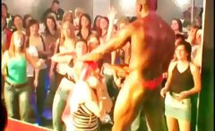 Stripper showing black cock at orgy
