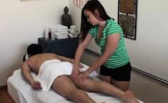 Asian masseuse jerks and dicksucks client