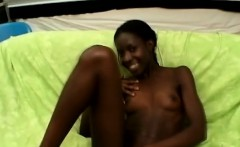 This naughty ebony teen has some troubles to suck off a big