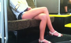 Legs were crossed by honest stunning