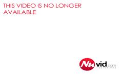 distinctive ebony girl in black stockings buries a dildo in
