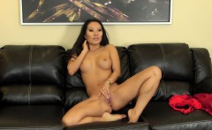 hot asian babe asa akira poses and plays with her twat on live cam