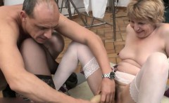 French lesbian granny play