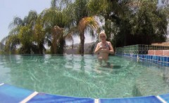 Samanta's Poolside masturbation